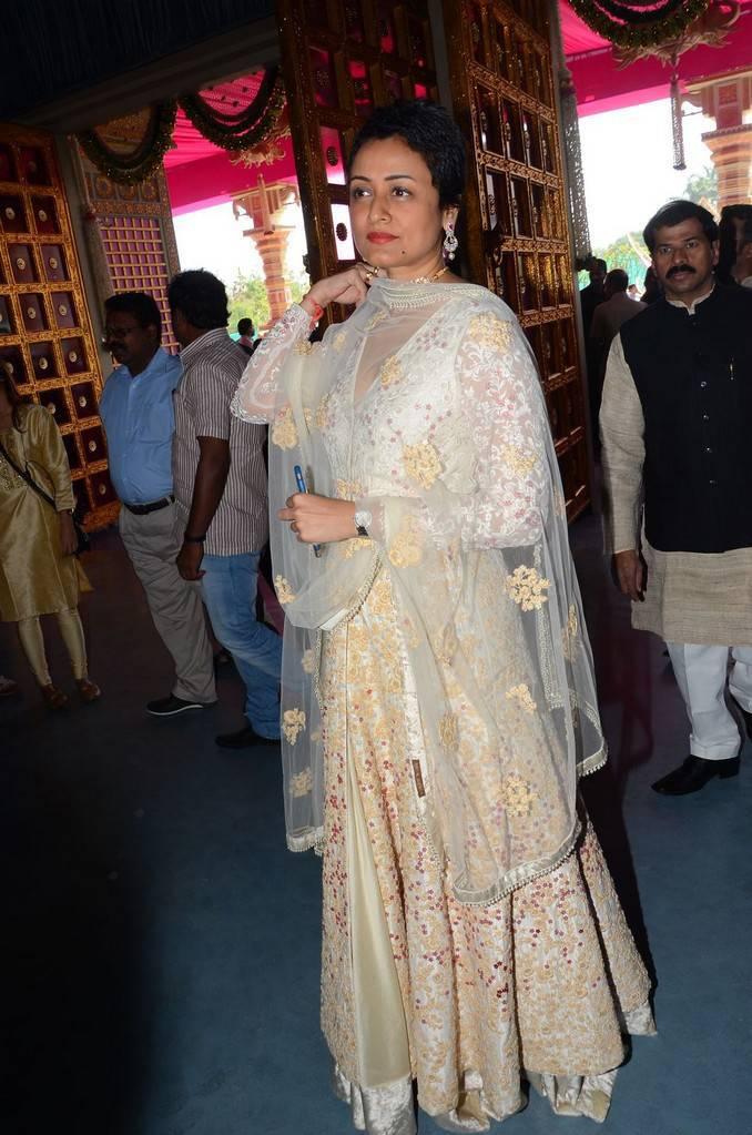 Actress Namrata Stills At Wedding In White Dress