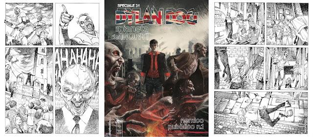 Dylan Dog - Il pianeta dei morti - Nemico Pubblico n.1 (cover+tavole)