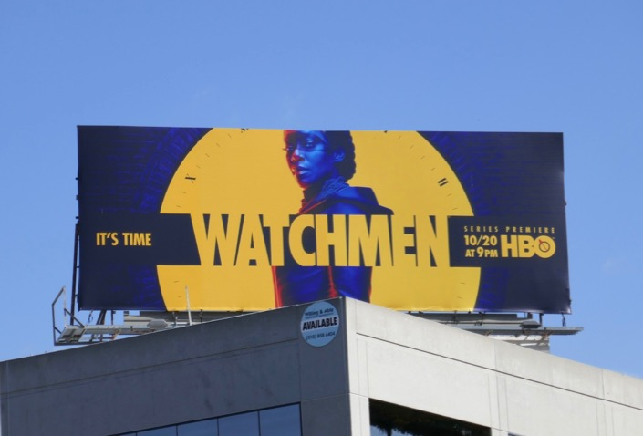 Watchmen series premiere billboard
