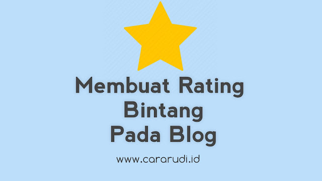 memasang rating bintang di blog