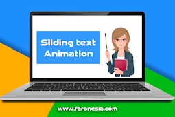 Belajar Membuat Sliding Text Animation Keren
