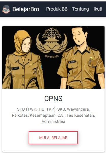 Tryout CPNS Online Gratis di BelajarBro.id