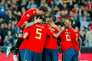 التشكيل المتوقع لمباراة اسبانيا ضد جزر فارو بدون تقطيع