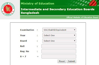 HSC Result  Published  With Mark sheet