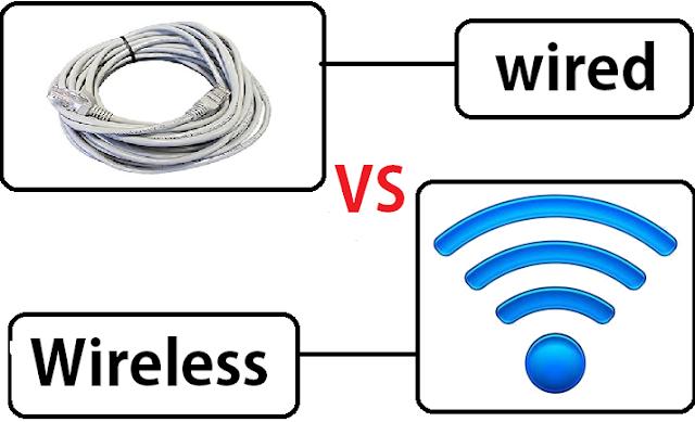 Perbedaan Jaringan Wireless dan Wired