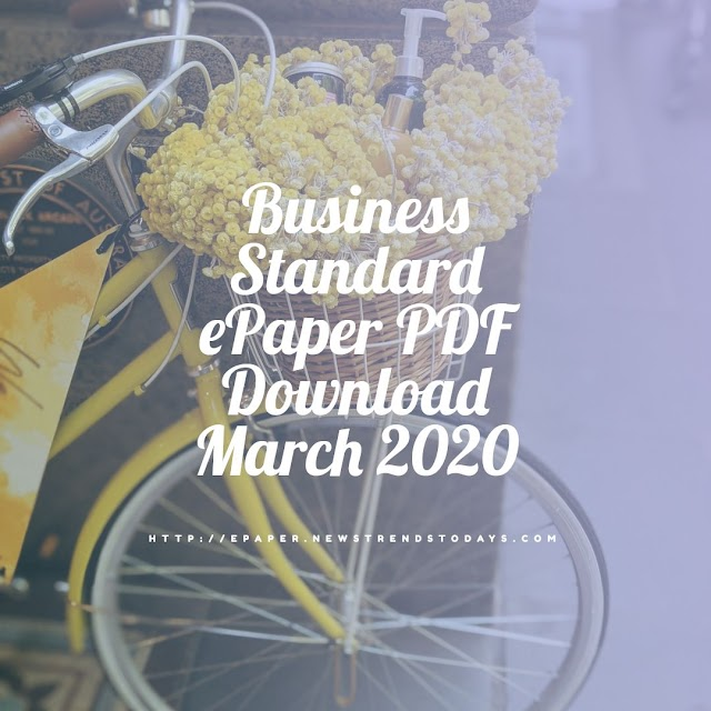 Business Standard ePaper PDF Download March 2020