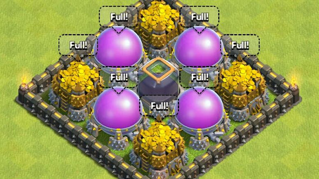 Clash Of Clans Elixir Storage
