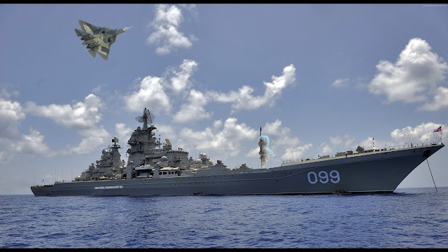 Kapal perang destroyer Peter the Great Rusia