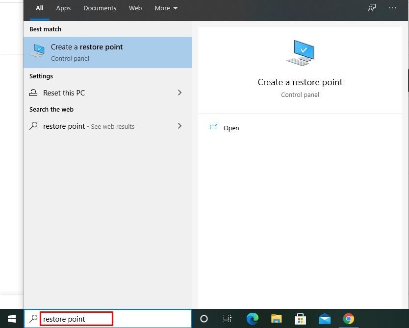 Create System Restore Point on Windows 7,8,10