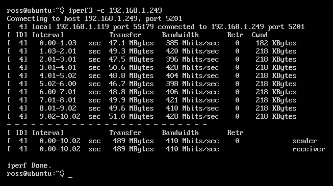 404notfound Us Using Iperf 3 To Test Network Throughput