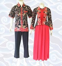 model baju batik Kerja Couple Terbaru