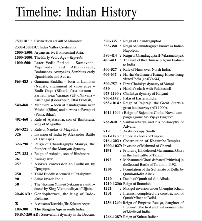Timeline of indian history very important pdf download also qmaths rh