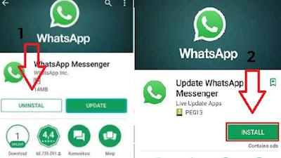 Instal Ulang WhatsApp