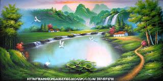 tranh sơn thủy cảnh thiên nhiên