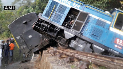 Darjeeling toy train derailed