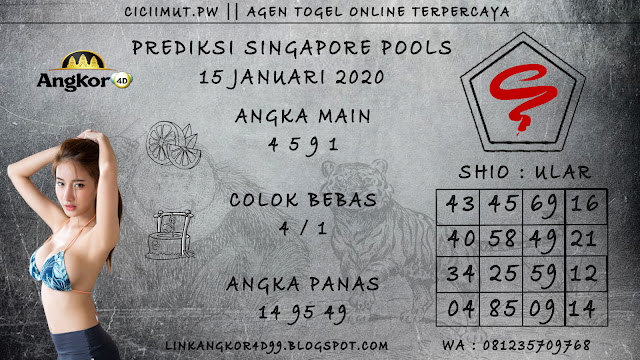 PREDIKSI SINGAPORE POOLS 15 JANUARI 2020