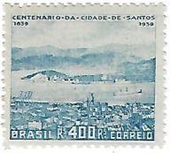 Selo Centenário da cidade de Santos