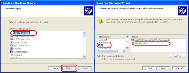 Langkah-langkah install USB Driver Intel