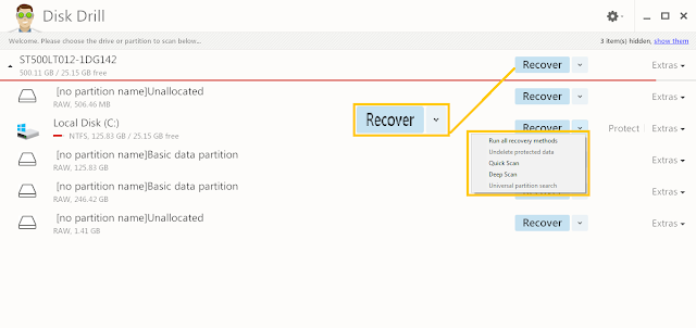 recover permanently deleted data using disk drill