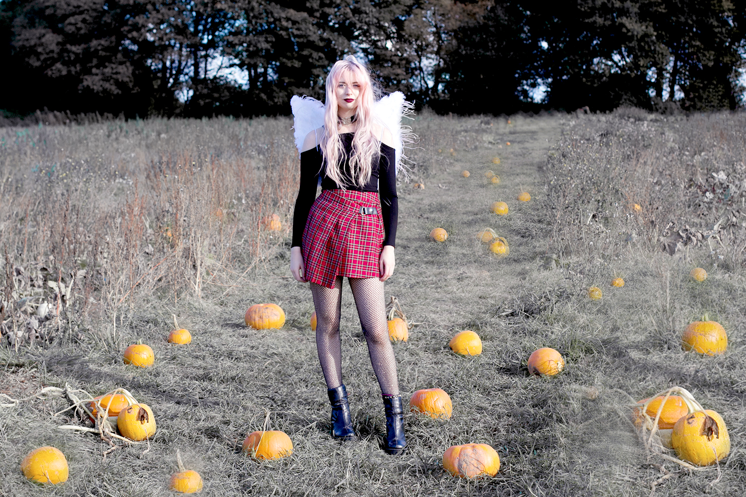 IN MY FIELD OF PAPER PUMPKINS | TOPSHOP HALLOWEEN