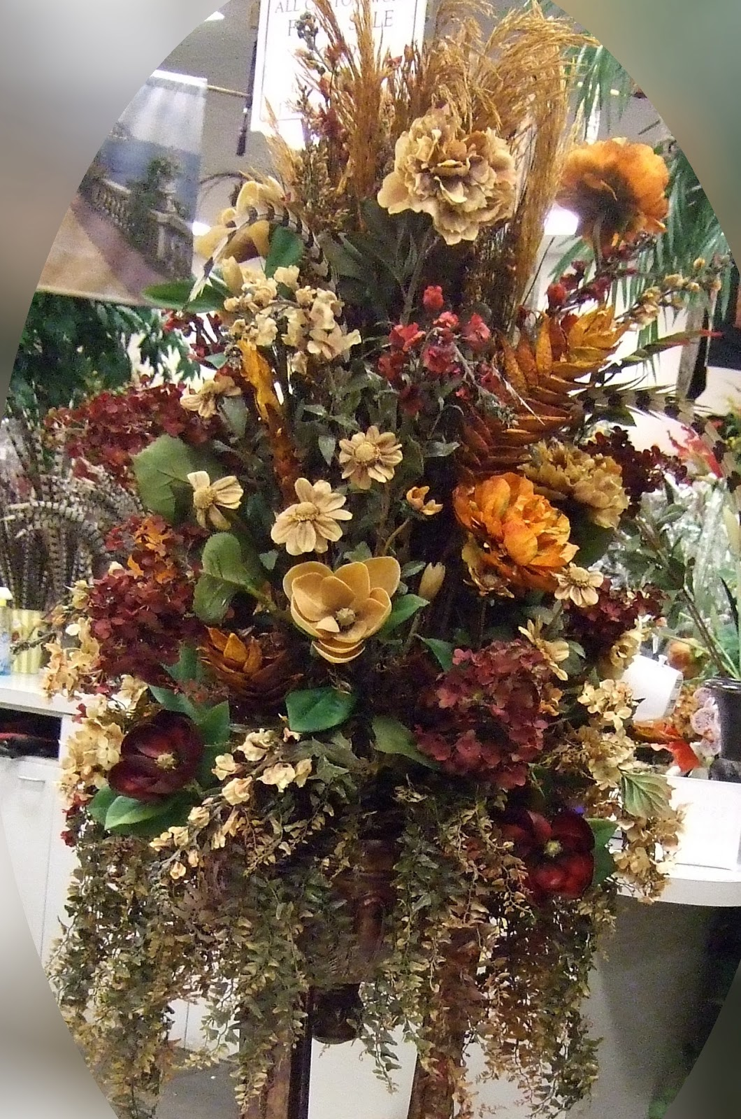 How To Make A Silk Floral Arrangement Ana Silk Flowers Brown Sage And Burgundy Silk Flowers