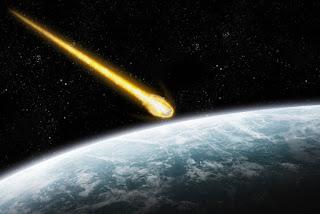 """""""Dünyaya doğru hızla gelen bir meteor taşı"""""""