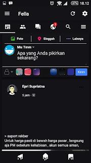 Cara Ubah Tampilan Facebook Lite Warna