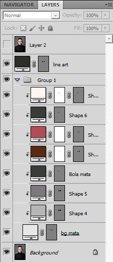 Cara buat vector mata di photoshop