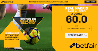 betfair supercuota Real Madrid gana a Betis 13 enero 2019