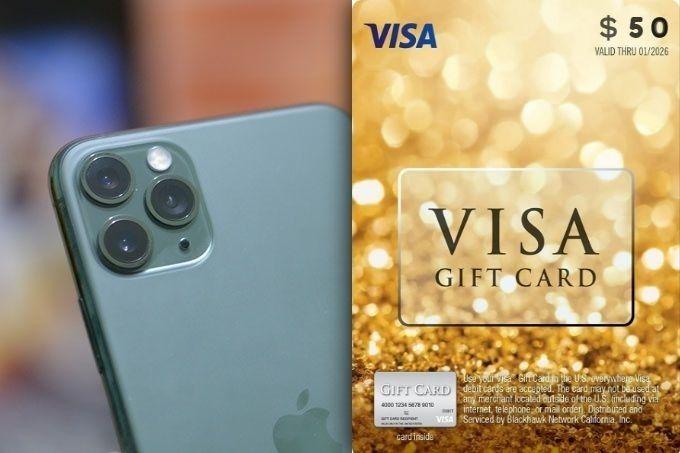 Sorteio de Um iPhone 11 e Mais Gift Cards de $ 250 Reais