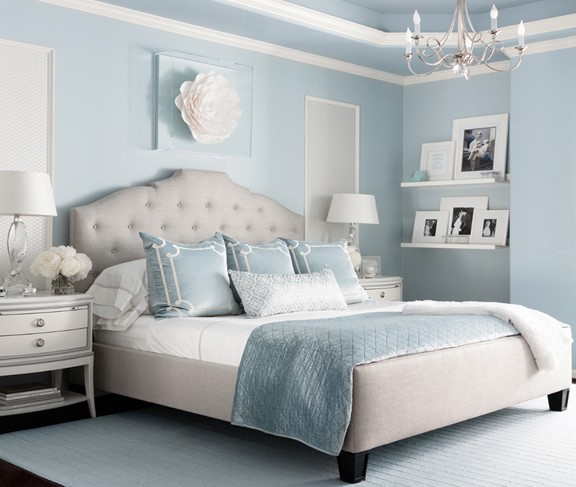 اللون الازرق في ديكور غرفة النوم