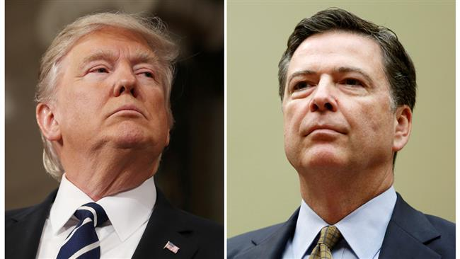 US President Donald Trump am being investigated for firing FBI Director James Comey