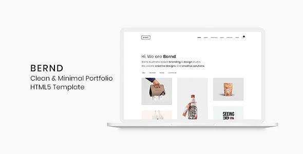Clean & Minimal Portfolio HTML5 Template