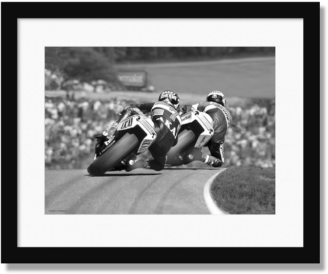 Barry Sheene and Kenny Roberts 1981 photo print for sale at Owen Art Studios