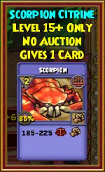 Scorpion - Wizard101 Card-Giving Jewel Guide