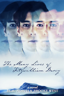 Book cover: The Many Lives of Fitzwilliam Darcy by Beau North and Brooke West