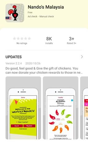 Nando's Malaysia Is Now On HUAWEI AppGallery!