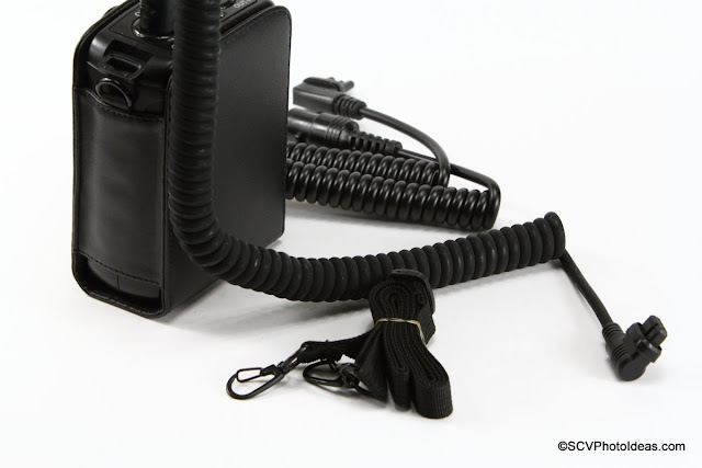 Triopo LE-28 Battery Pack connector cables and strap