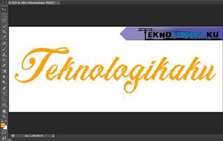 Cara membuat efek text/tulisan 3D di photoshop