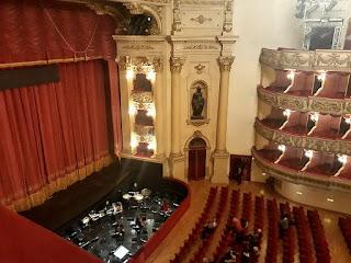 A view of the interior of the Teatro Filarmonico in Verona, the city's principal opera theatre