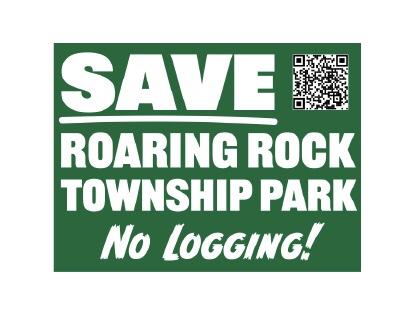 Roaring Rock Park Lawn Sign June 2021