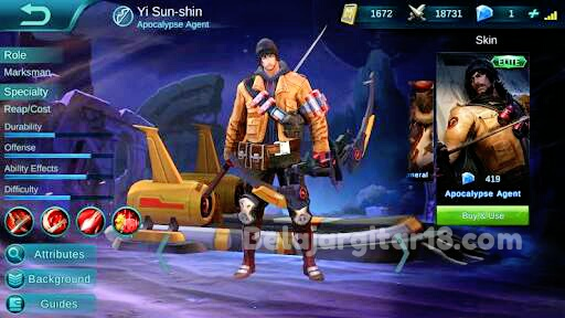 Hero yi sun shin Mobile legends