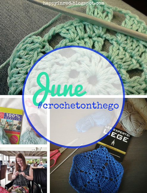 #crochetonthego in June | Happy in Red
