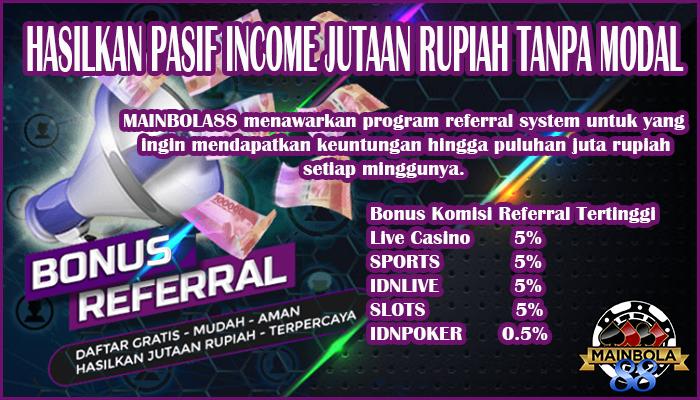 Referrals Bonus Tertinggi