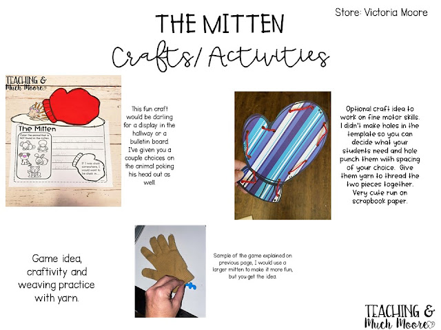 The Mitten craft and game ideas