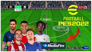 Download eFootball PES 2022 PPSSPP Mobile Final Transfer & Team Promotion English Commentary