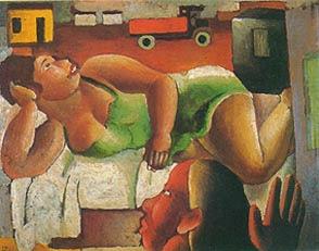 A Mulher e o Caminhão - Di Cavalcante e suas principais pinturas ~ Pintando a realidade brasileira