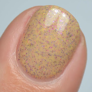 yellow nail polish with glitter