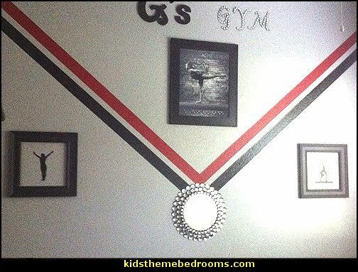 Gymnastics Girls Room Gymnastics  girls sports themed bedroom decorating ideas - sports bedding - sports bedrooms - Girls rooms sports themed - cheerleader themed bedroom decorating ideas - sporty bedroom ideas - Gymnastics Girls Room - skateboarding theme bedrooms girls - soccer themed bedrooms for girls
