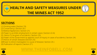 Health and Safety measures, provision, regulations under the mines Act 1952 notes